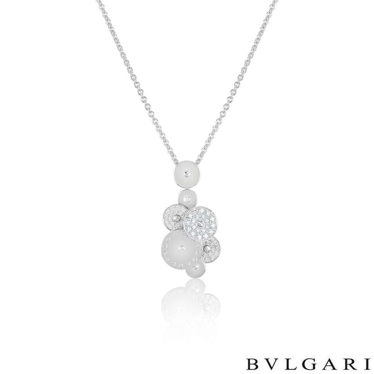 Bvlgari White Gold Diamond Cicladi Pendant
